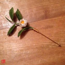 つまみ細工 茶の花